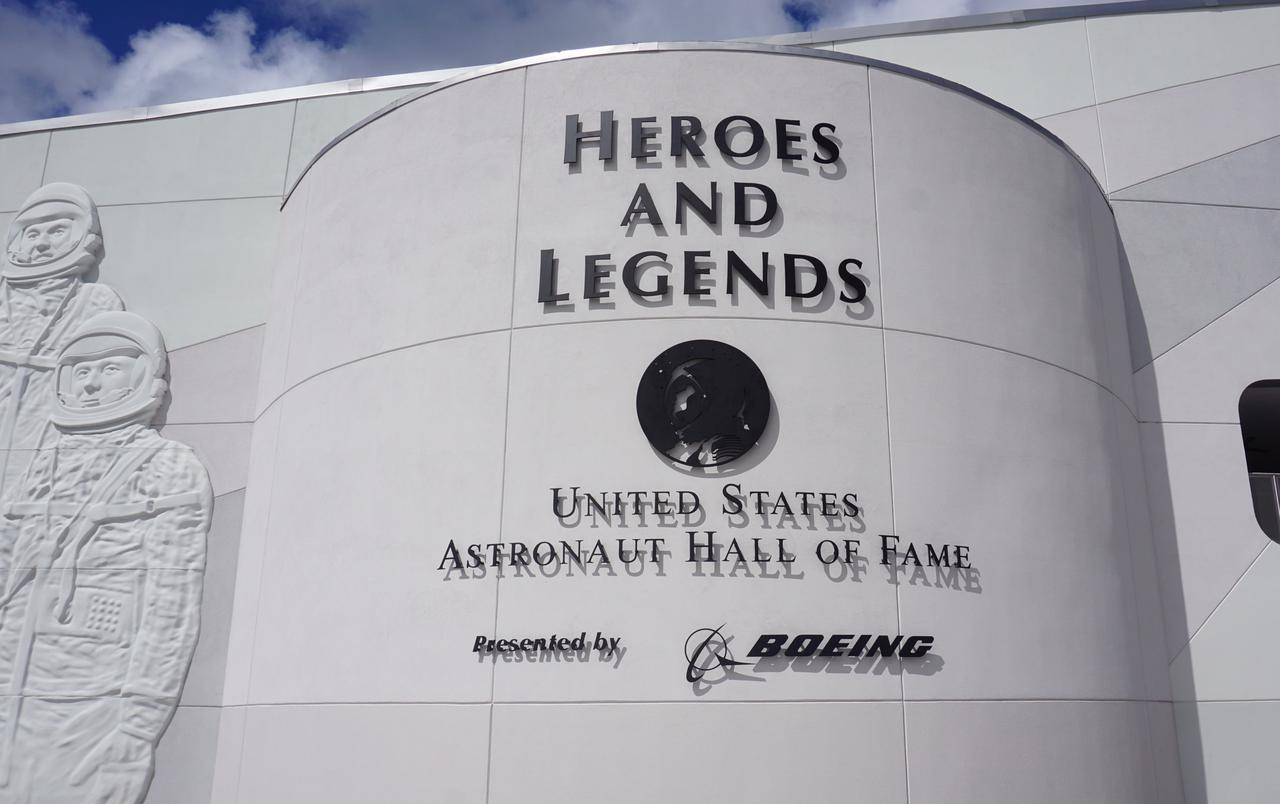 Heroes and Legends. United States Astronaut Hall of Fame at Kennedy Space Center, Cape Canaveral, Florida, USA.