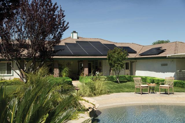 A beautiful home with a pool and solar panels. Solar panels in Maryland will save you money, enabling you to make dream additions to your property.