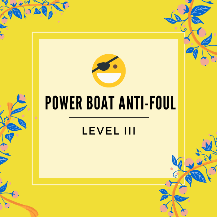 Powerboat bottom Anti foul - Service Badge - Click to learn more -