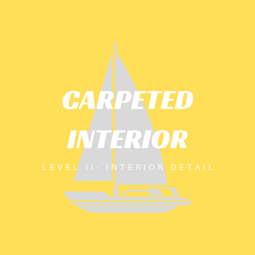 A carpeted interior detailed cleaning service cares for all exposed surfaces with a thorough wipe down