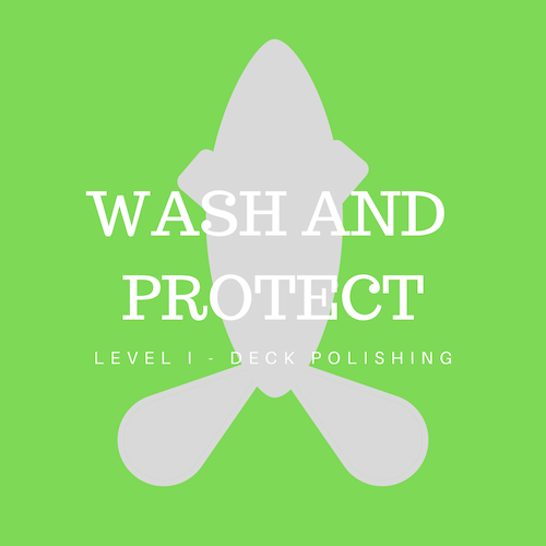 Washed and protected with Permanon Yacht super shine. - Decks only