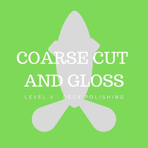 Coarse cut compound polish and high speed gloss finishing polish - Decks only
