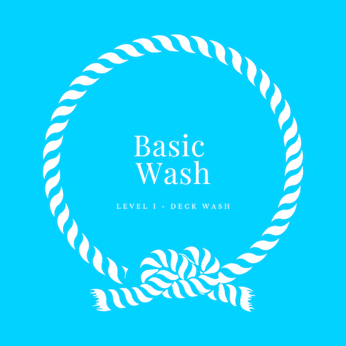 A hand wash and dry for properly polished and protected vessels.