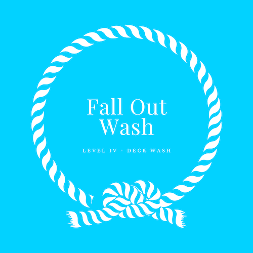 The fall out wash deals with various elements of contamination from long durations of neglect.