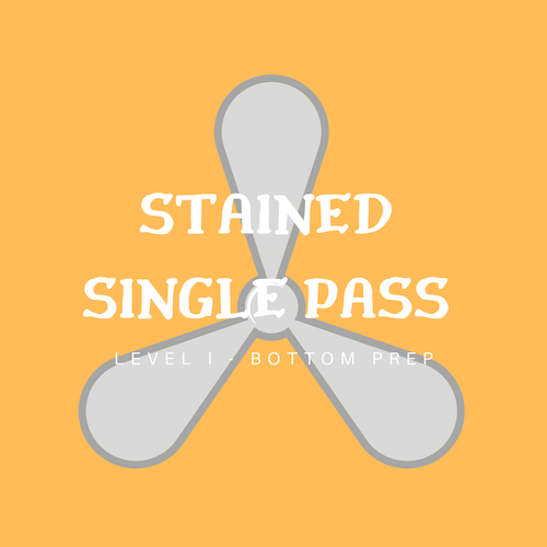 Stained only requires a Single pass with non-acid