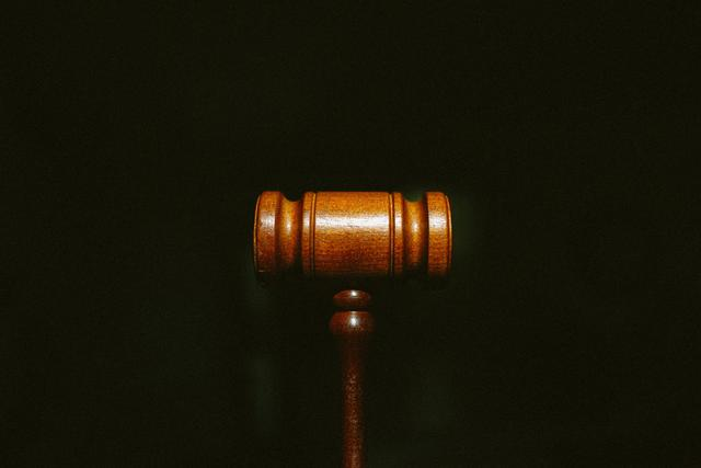 A wooden gavel.