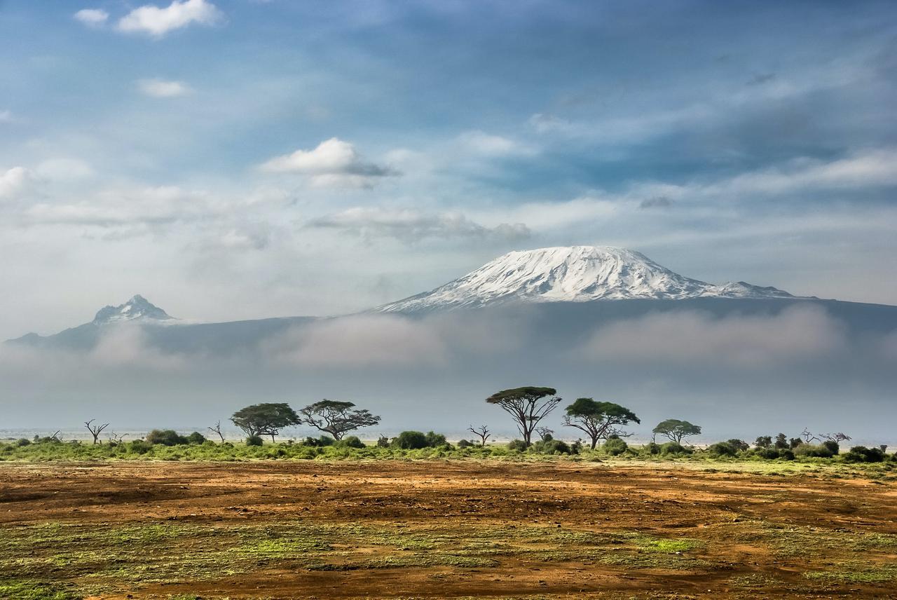 View of Kilimanjaro from Amboseli National Park, Kenya.