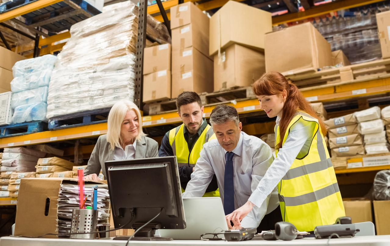 A team using warehouse staffing services to find the ideal candidate.