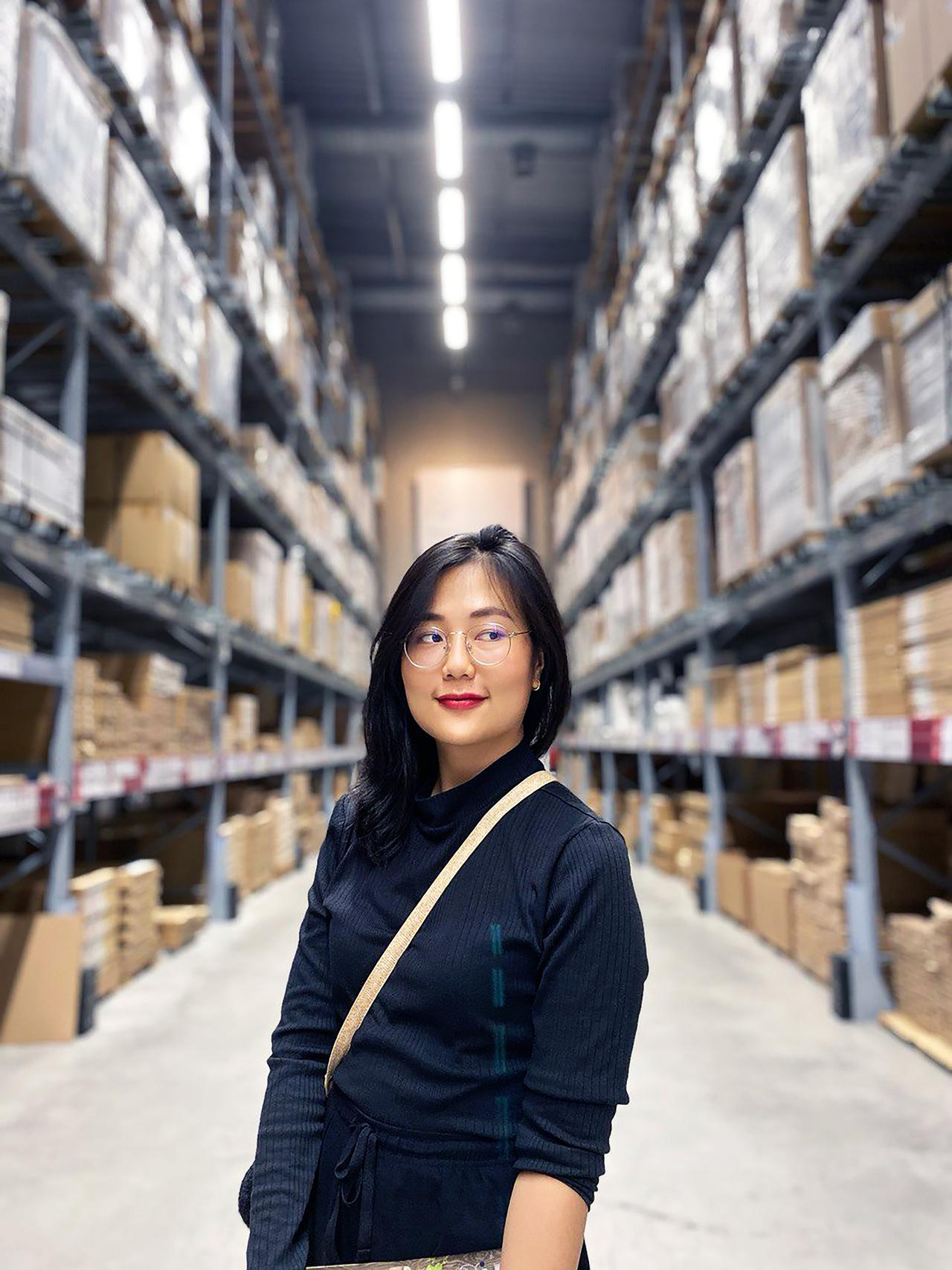 Warehouse employee who found job through fulfillment employee staffing in St. Louis.