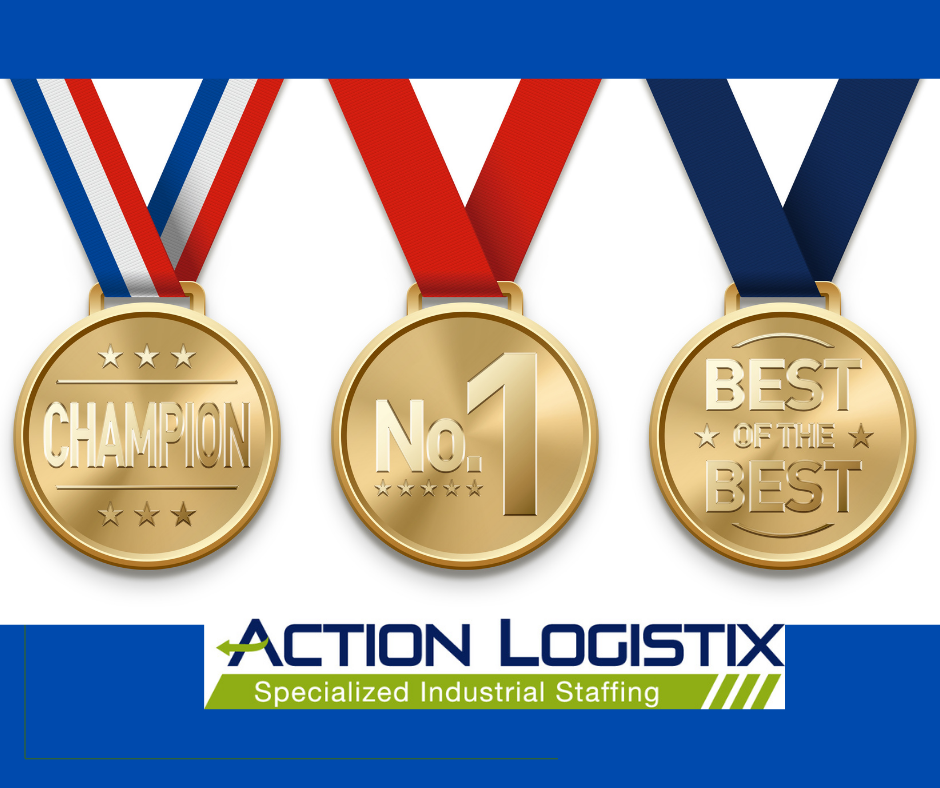 This is a photo of awards for our specialized warehouse staffing services.