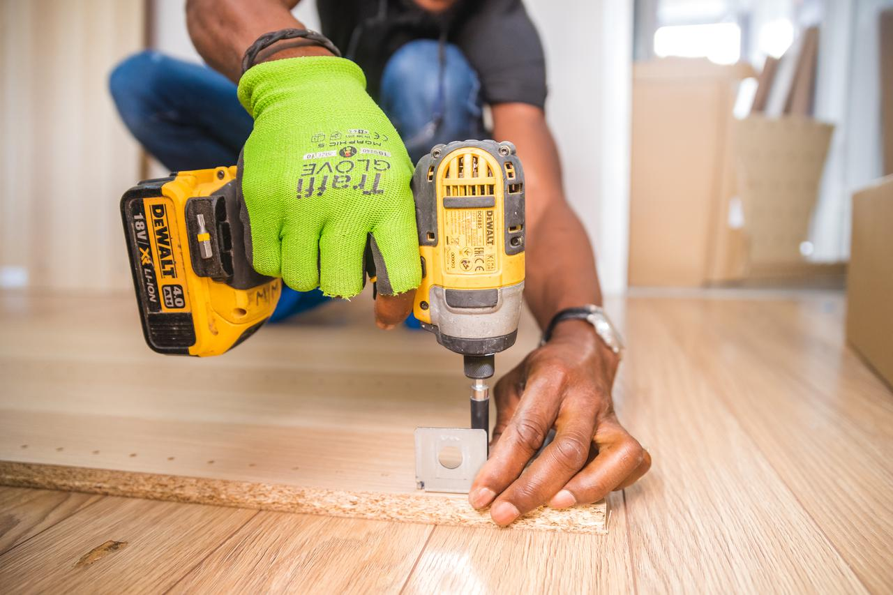 This is a photo of carpentry renovation and construction work.