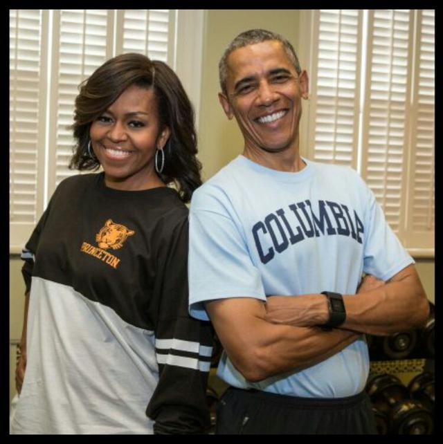 This is a photo of the Obamas who both knew how to get into ivy league colleges