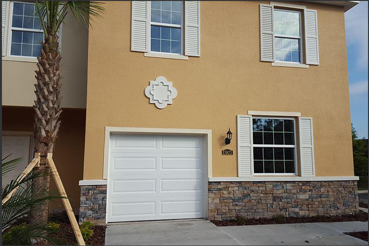Stucco application in Tampa, Florida.