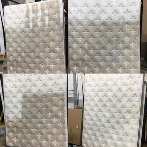 Before and after picture on Mattress cleaning
