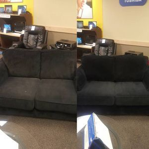 Couch Cleaning Before and After