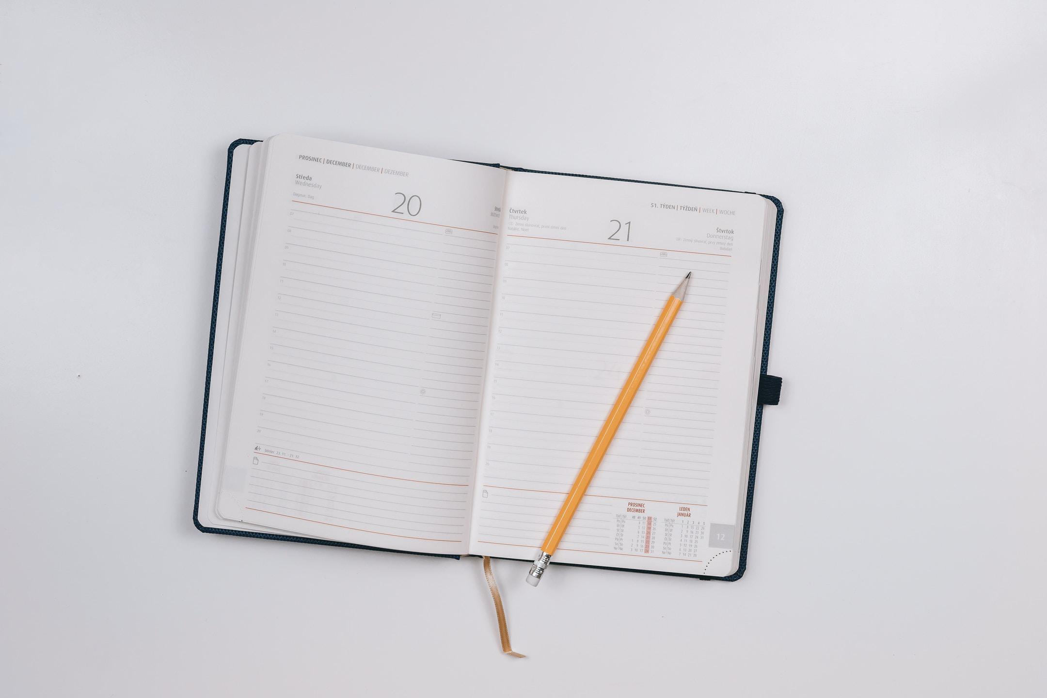open weekly planner