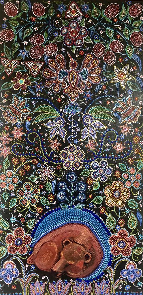 This is an image of art by a Métis artist.