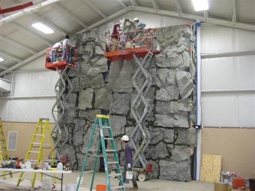 Natural Rock - Installation progress - Michigan