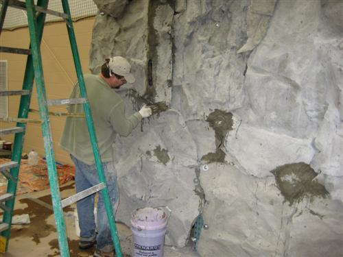 Natural Rock Wall Seaming - Midwest Project