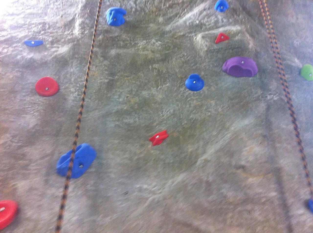cementatious climbing wall texture
