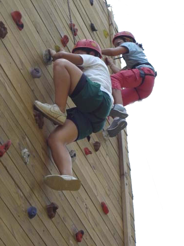 kids climbing on tower - southeast