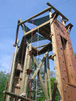 Wooden Climbing on Tango Tower