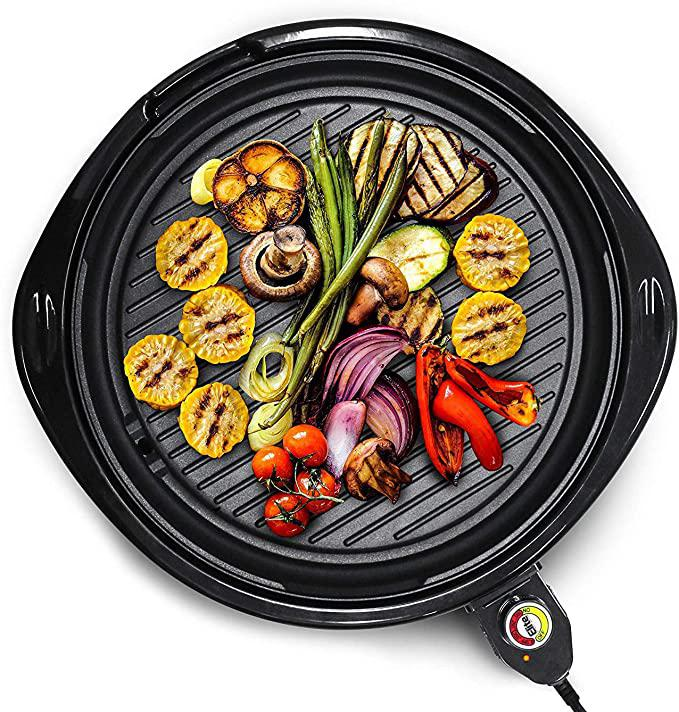 Large Indoor Electric Round Nonstick Grill