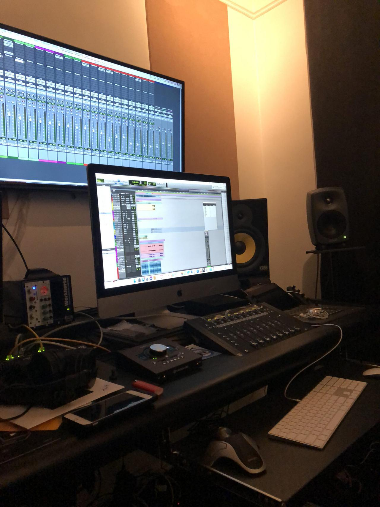 This is an image of a music studio rental.