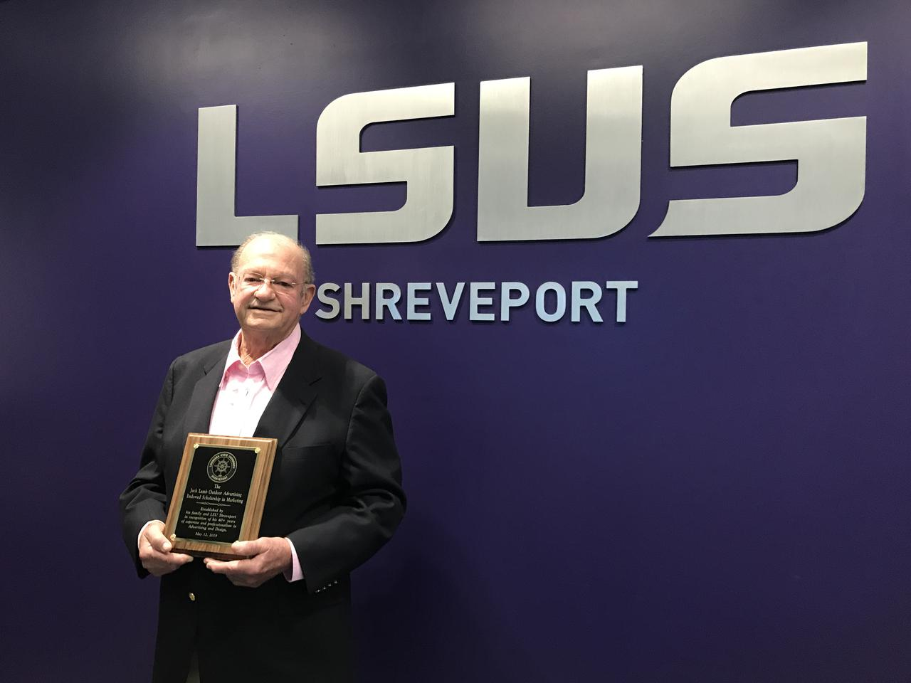 Lamb family establishes LSUS scholarship to honor Shreveport advertising executive