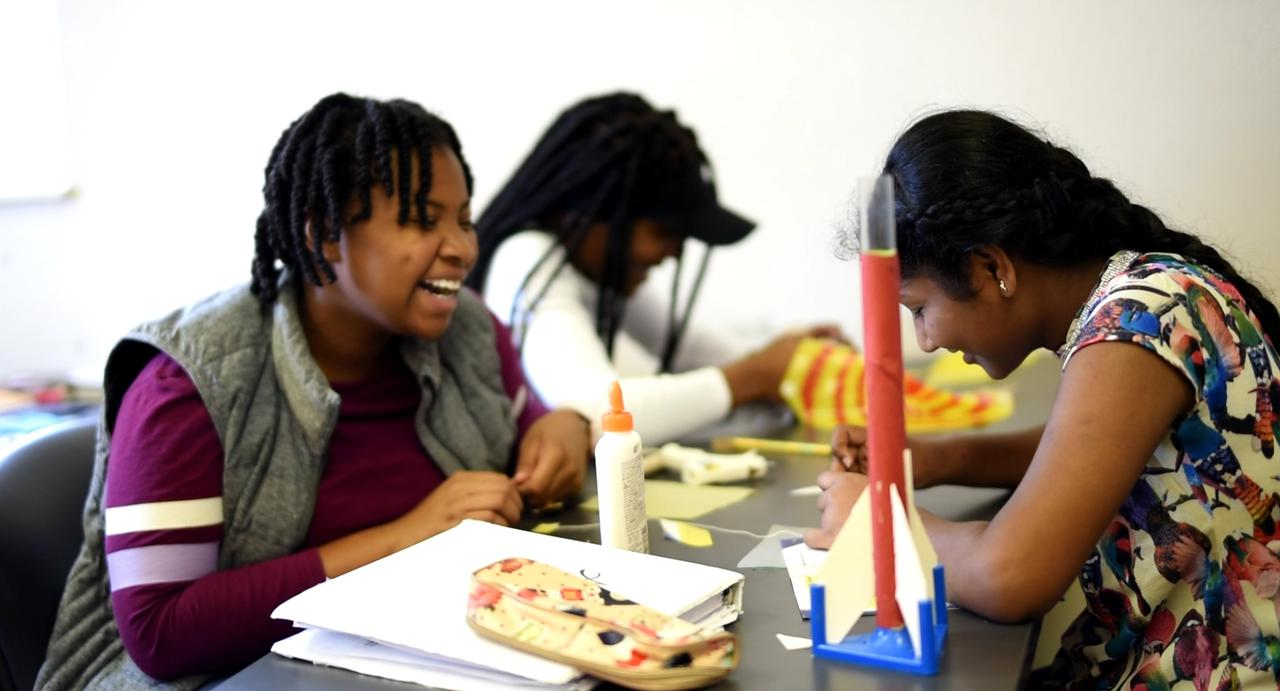 <p><strong>LaPREP students build rockets as part of the program's hands-on math, science and technology curriculum. LaPREP is part of a pipeline that encourages minority, female and low-income students to pursue math and science careers. (Photo by Morgan Pitner)</strong></p>
