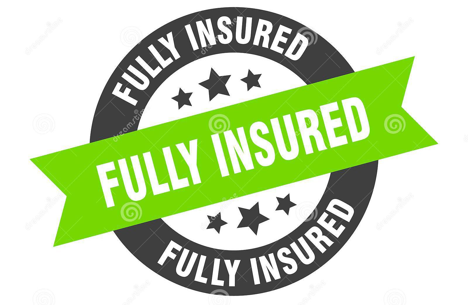A graphic guaranteeing that they are fully insured and the customers are protected.