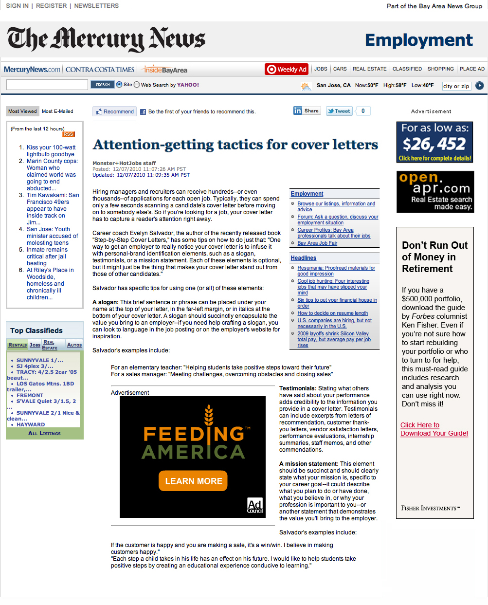 mercury news, contra costa times, inside bayarea - attntion-getting tactics for cover letters.jpg