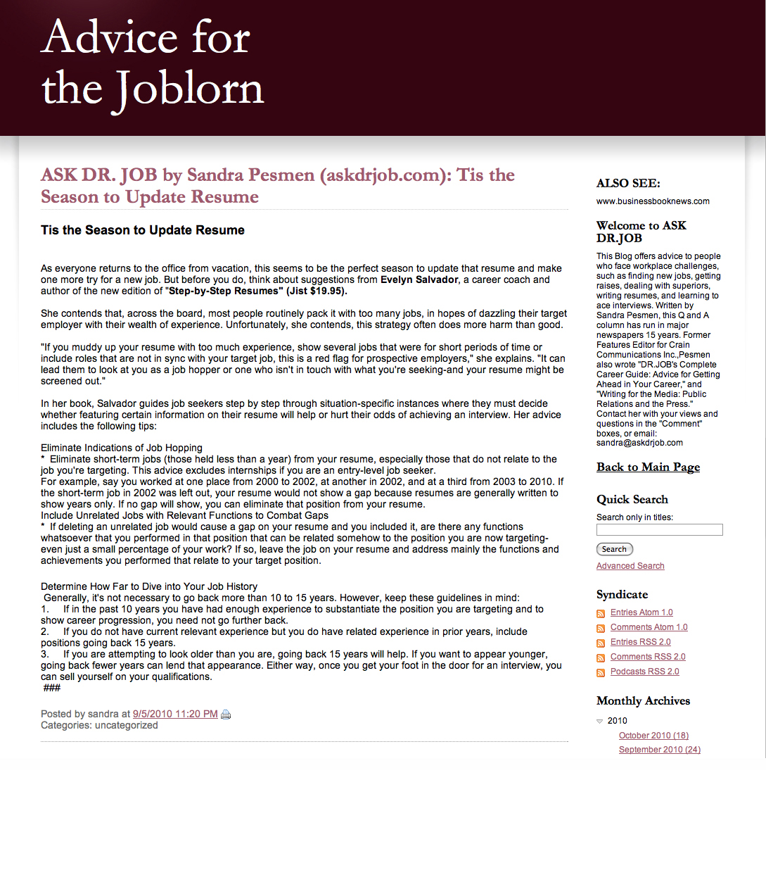 advice for joblorn - tis the season to update resume.jpg
