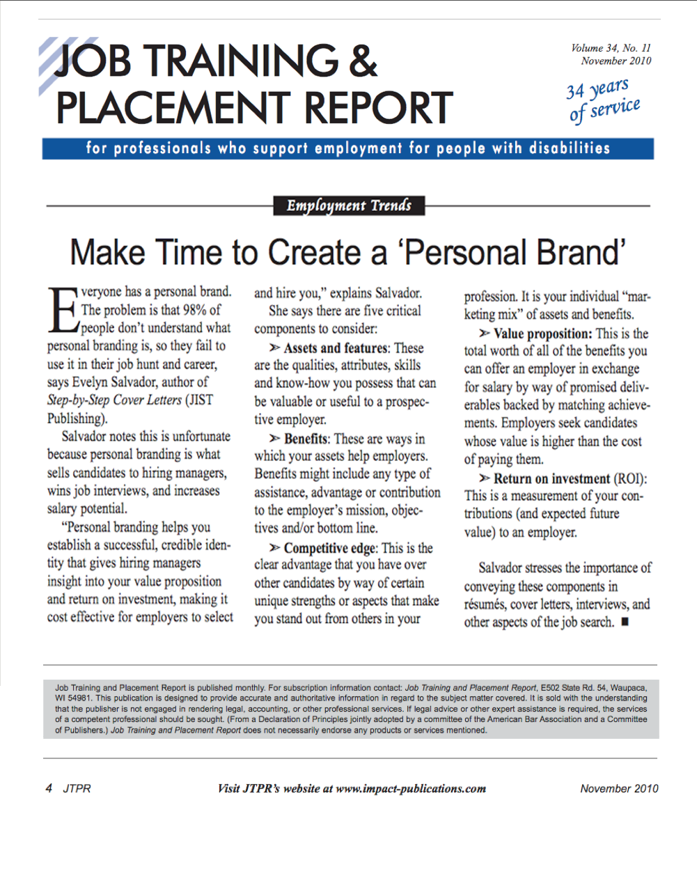 job training and placement report-create a personal brand.png