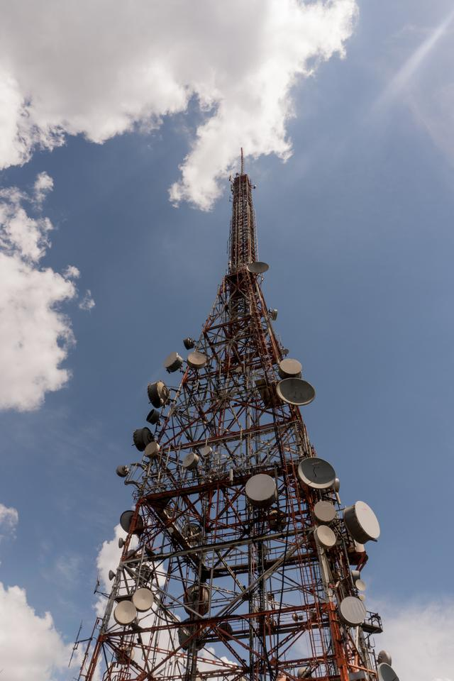 A communication tower construction that used structural engineering services.
