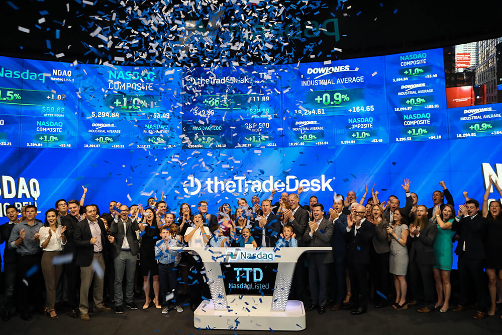 TradeDesk Rings the Nasdaq Bell