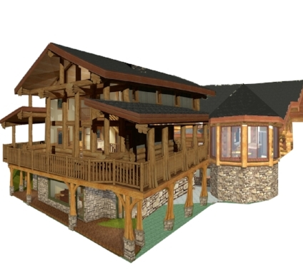 This is the updated 2 story open concept design