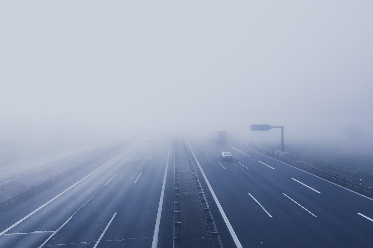 Foggy motorway at Bindlacher Berg