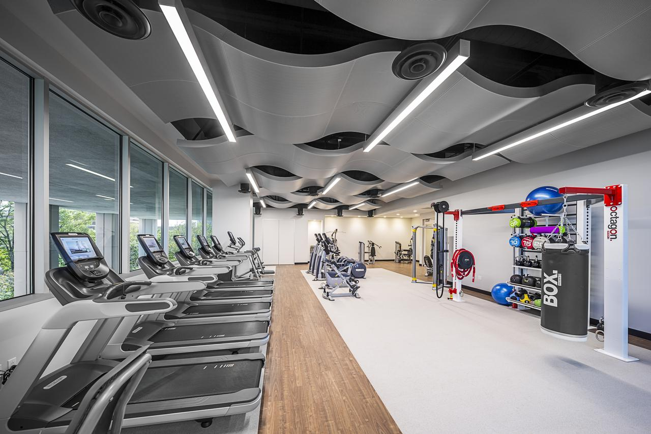 Our business property in the West Loop comes with a high-performance fitness facility.