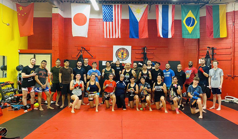 A Muay Thai gym near Chicago.