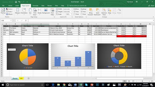 Excel Spreadhseet