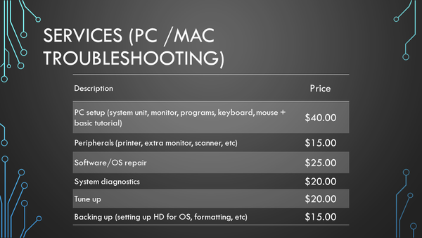 PC/Mac Troubleshooting