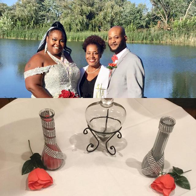 Kimeshia and Brandon had perfect weather for their perfect wedding