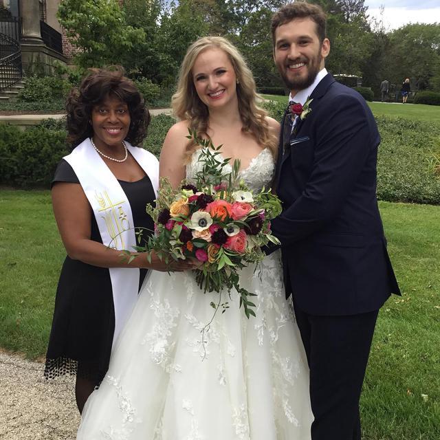 Happy Wedding Day to Lauren and William  No rain