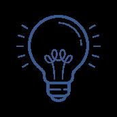 shining lightbulb icon
