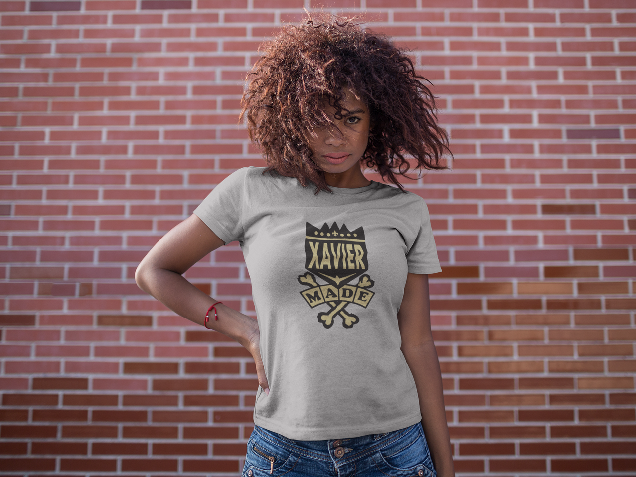 black-girl-with-wind-in-her-hair-wearing-a-t-shirt-mockup-against-a-bricks-wall-a15814.png