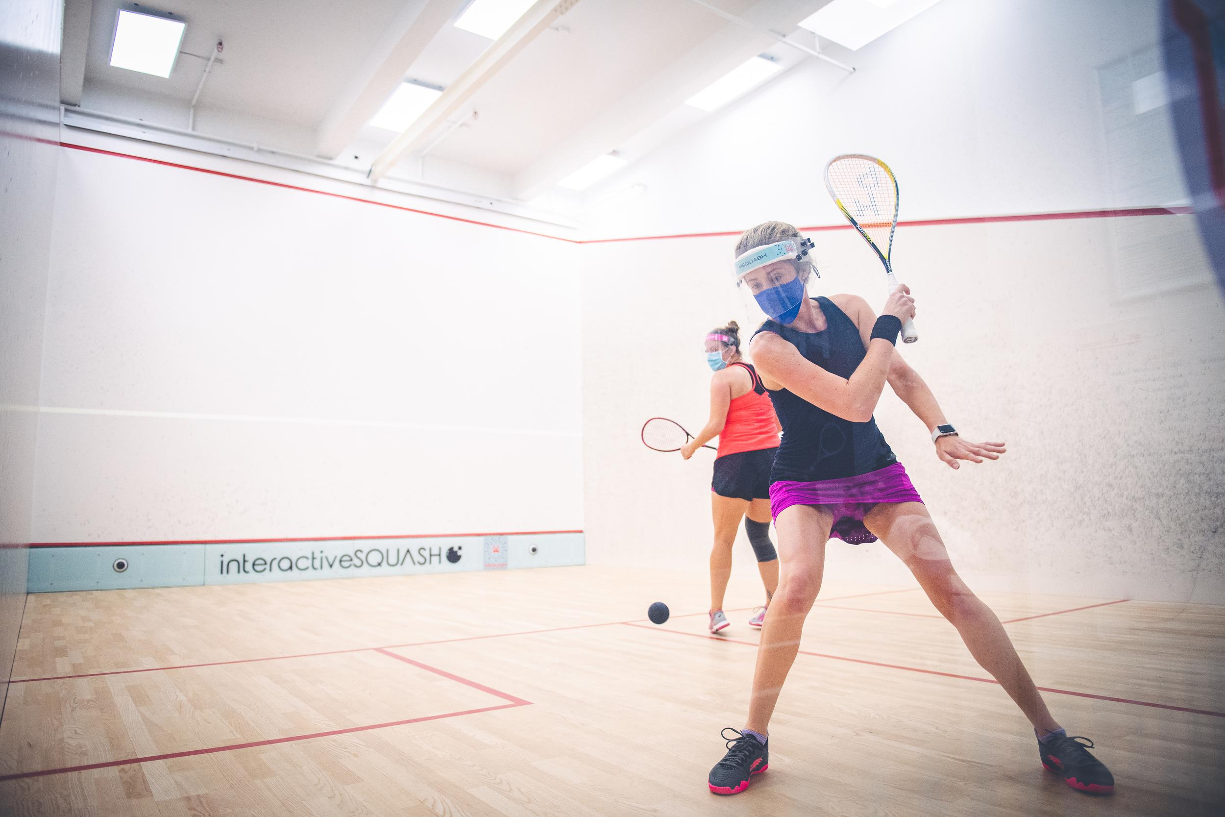 This is an image of squash training in Darien, CN.