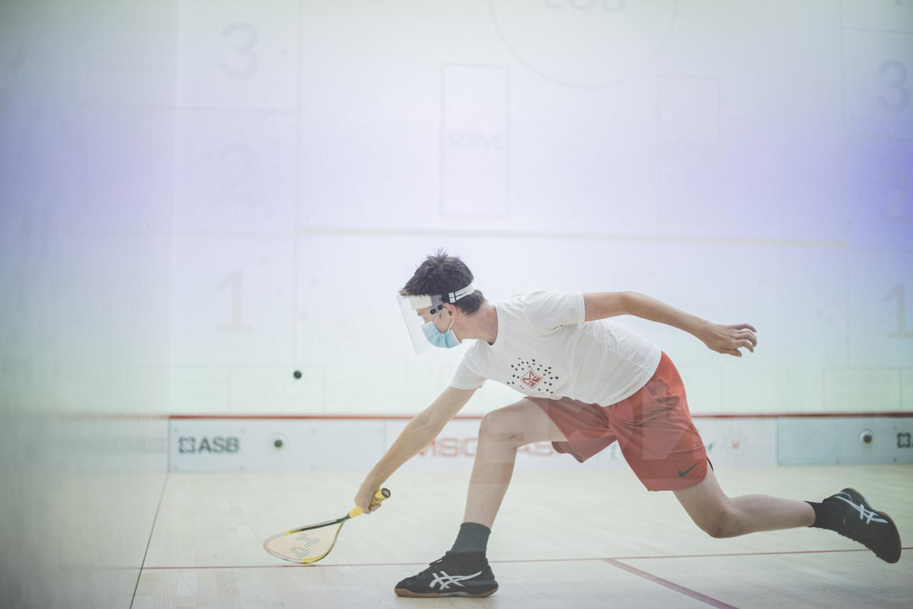 This is an image of squash training in Westport, CN.