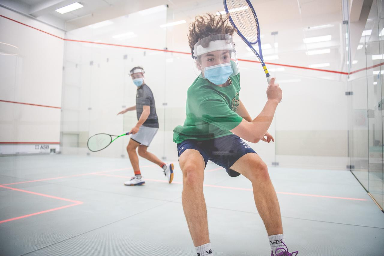 This is an image of a student at Msquash by Shaun Moxham.