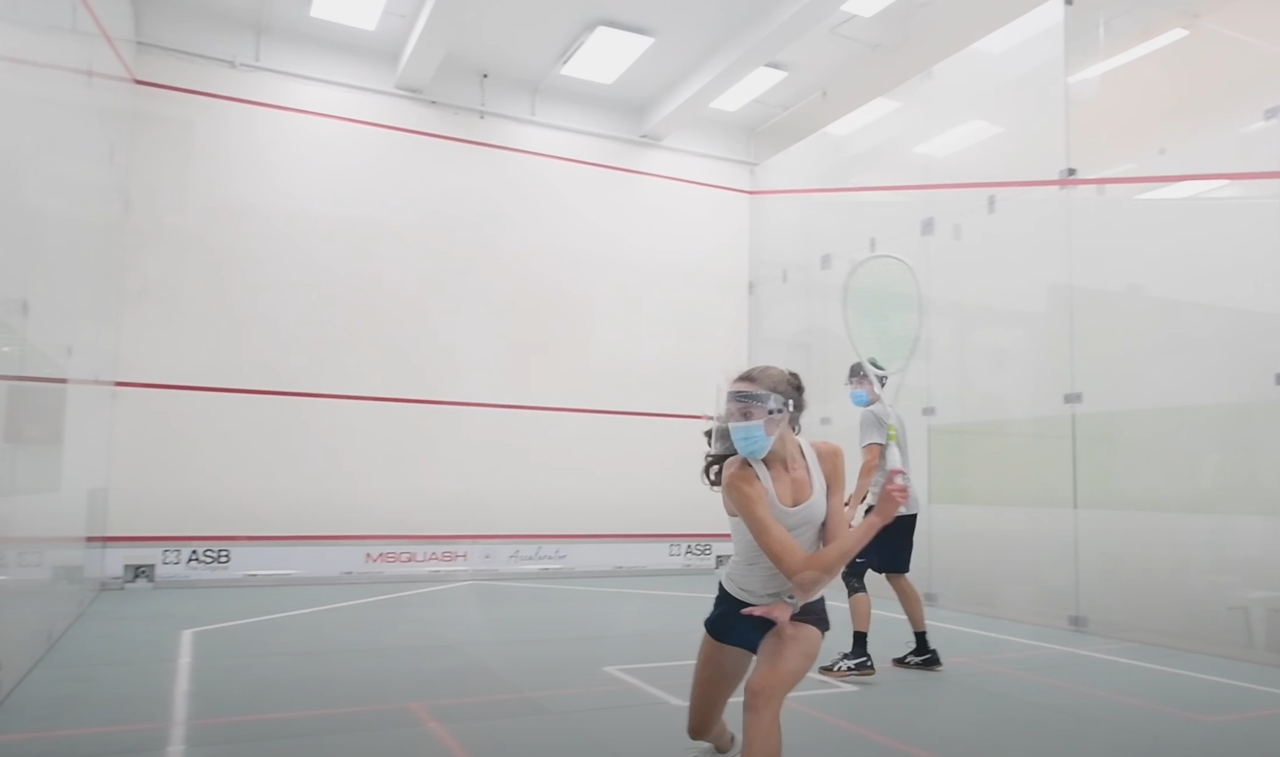 This is an image of squash training in greenwich, CN.